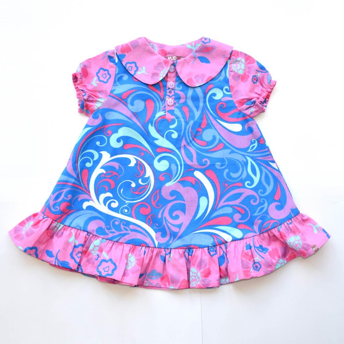 e938c6c1c6de6c Nomi  Baby Jurkje Blauw-Roze Maat 80 - Vanilla and Brass